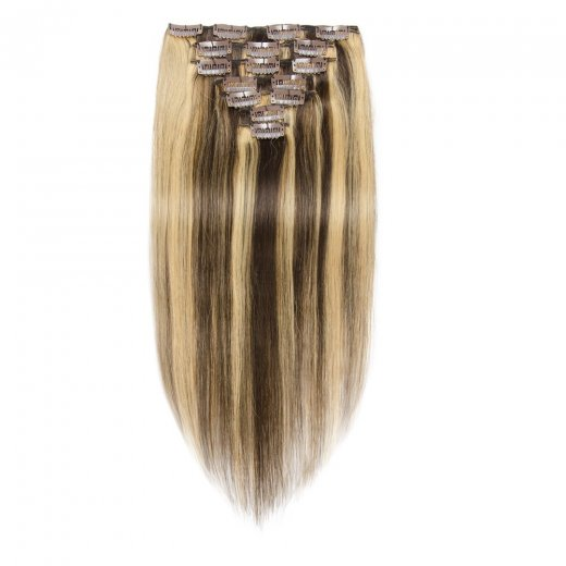 100g 18 Inch #4/27 Straight Clip In Hair