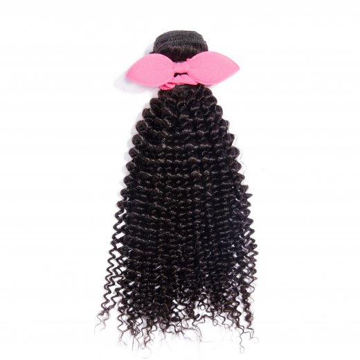 10 Inch - 30 Inch Virgin Brazilian Remy Hair Weft Kinky Curly Natural Black 100g