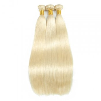 "14""-26"" 3 Bundles Straight #613 blonde Virgin Brazilian Hair 300g"