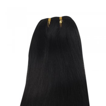 100g Straight Brazilian Remy Hair #1 Jet Black