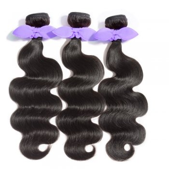 3 Bundles Body Wavy 8A Malaysian Virgin Hair 300g With 4*4 Free Part Lace Closure