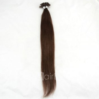100s 1g/s Straight Nail/U Tip Remy Hair Extensions #4 Chocolate Brown