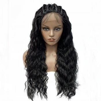 Lace Front Synthetic Hair Wig PWS412 Natural Wavy