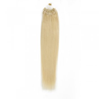 100s 0.5g/s Straight Micro Loop Hair Extensions #24 Light Golden Blonde
