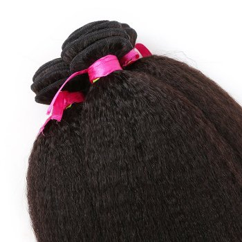10 Inch - 26 Inch Virgin Brazilian Remy Hair Weft Kinky Straight Natural Black 100g