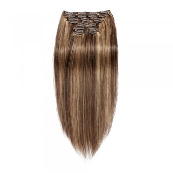 200g 22 Inch #4/27 Straight Clip In Hair