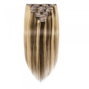 70g 16 Inch #4/27 Straight Clip In Hair