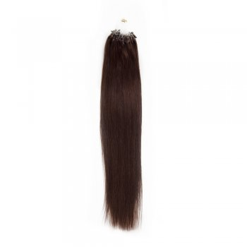 100s 0.5g/s Straight Micro Loop Hair Extensions #2 Darkest Brown