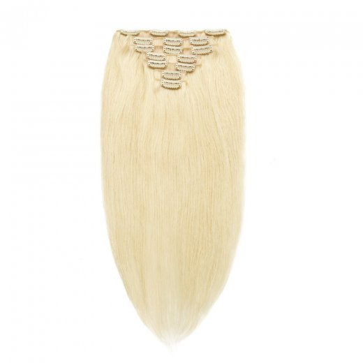 100g 18 Inch #60 Platium Blonde Straight Clip In Hair