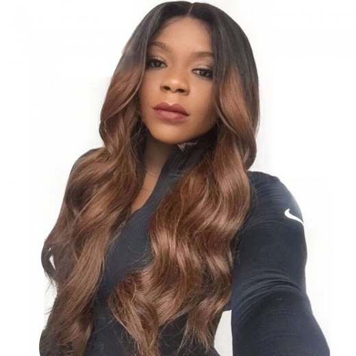Lace Front Synthetic Hair Wig PWS439 Natural Wavy