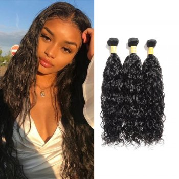 Virgin Indian Natural Wavy Hair 3 Bundles