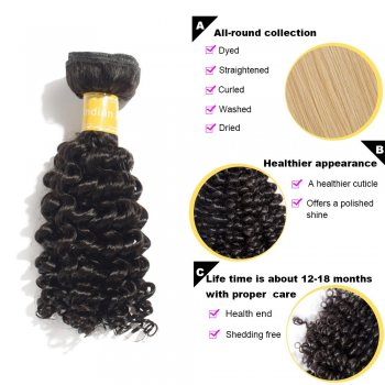 Virgin Indian Deep Curly Hair 3 Bundles