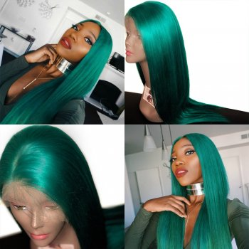 Emerald Green Lace Front Wig