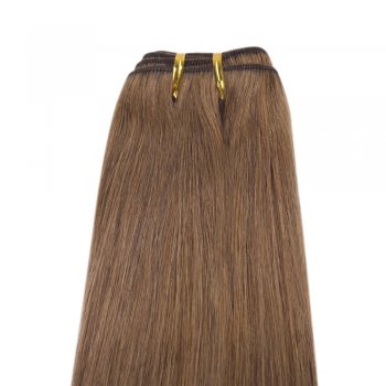 100g Straight Brazilian Remy Hair #8 Light Brown